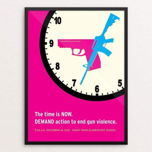 "The Time Is Now by Hillary Steinau 18"" by 24"" Print / Framed Print Creative Action Network"