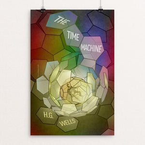 "The Time Machine by Brixton Doyle 12"" by 18"" Print / Unframed Print Recovering the Classics"