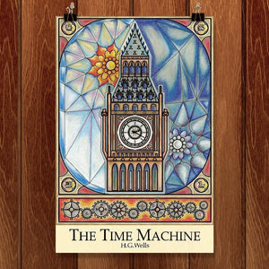 "The Time Machine by Eric Poland 12"" by 18"" Print / Unframed Print Recovering the Classics"