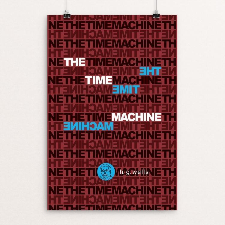 "The Time Machine by Robert Wallman 12"" by 18"" Print / Unframed Print Recovering the Classics"