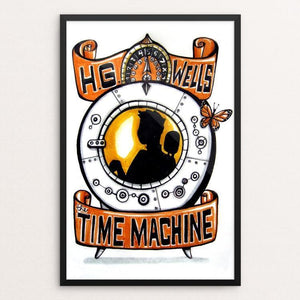 "The Time Machine by Veronique Vanblaere 12"" by 18"" Print / Framed Print Recovering the Classics"