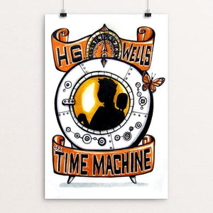 "The Time Machine by Veronique Vanblaere 12"" by 18"" Print / Unframed Print Recovering the Classics"