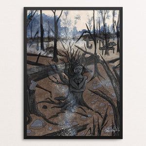 "The Tragedies of Deforestation by Tina Schofield 12"" by 16"" Print / Framed Print Creative Action Network"