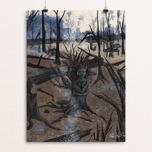 "The Tragedies of Deforestation by Tina Schofield 12"" by 16"" Print / Unframed Print Creative Action Network"