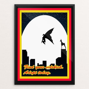 "The Ultimate Sidekick by Joshua Sierra 12"" by 16"" Print / Framed Print Creative Action Network"