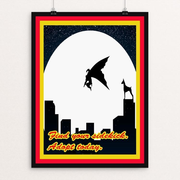 "The Ultimate Sidekick by Joshua Sierra 12"" by 16"" Print / Unframed Print Creative Action Network"