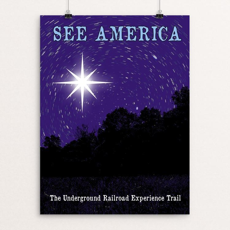 "The Underground Railroad Experience Trail by Bee Joy 12"" by 16"" Print / Unframed Print See America"