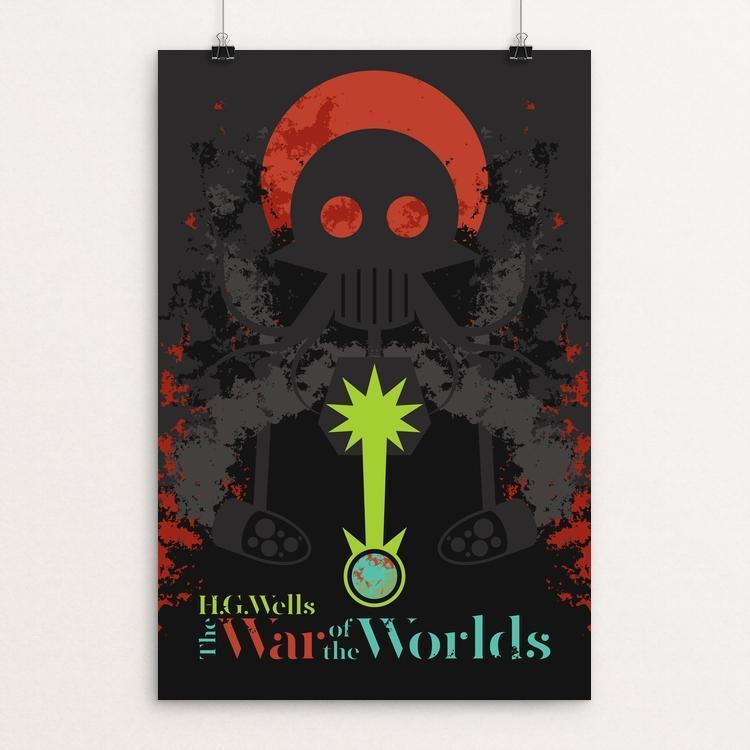 "The War of the Worlds by Ben Farrow 12"" by 18"" Print / Unframed Print Recovering the Classics"