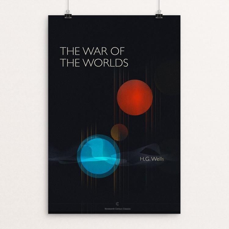 "The War of the Worlds by Dave Hall 12"" by 18"" Print / Unframed Print Recovering the Classics"