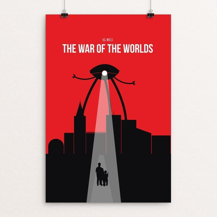 "The War of the Worlds by Kjell-Roger Ringstad 12"" by 18"" Print / Unframed Print Recovering the Classics"