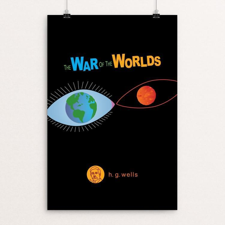 "The War of the Worlds by Robert Wallman 12"" by 18"" Print / Unframed Print Recovering the Classics"