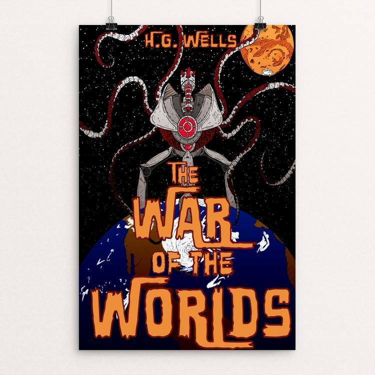 "The War of the Worlds by Todd Weber 12"" by 18"" Print / Unframed Print Recovering the Classics"