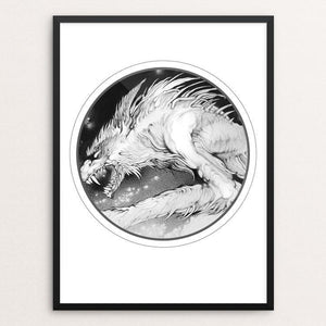 "The Werewolf King by Nadzeya Makeyeva 12"" by 16"" Print / Framed Print Join the Pack"