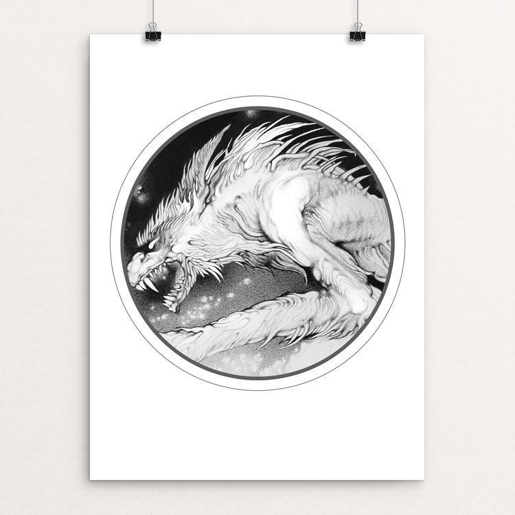 "The Werewolf King by Nadzeya Makeyeva 12"" by 16"" Print / Unframed Print Join the Pack"