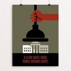"The White House by Luis Prado 12"" by 16"" Print / Unframed Print What Makes America Great"