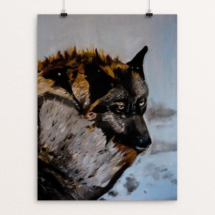"The Wild One by Stephanie Bottorff 12"" by 16"" Print / Unframed Print Join the Pack"