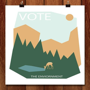 "The Wilderness Awaits You by Lisa McLean 12"" by 12"" Print / Unframed Print Vote the Environment"