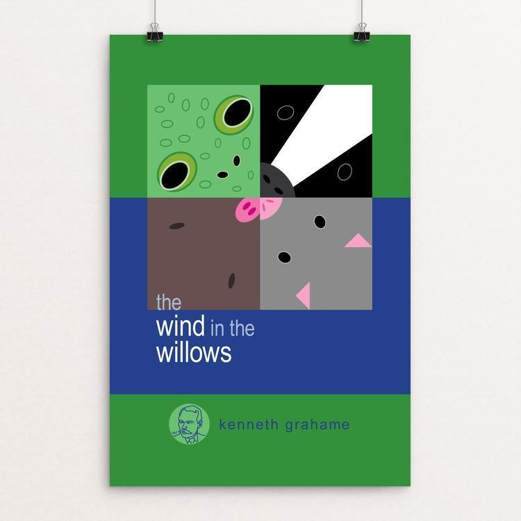 "The Wind in the Willows by Robert Wallman 12"" by 18"" Print / Unframed Print Recovering the Classics"