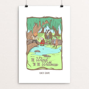 "The Wind in the Willows by Terrion Collins 12"" by 18"" Print / Unframed Print Recovering the Classics"