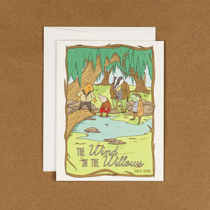 The Wind In The Willows Notecard by Terrion Collins 4.25x5.5 inch Notecard Recovering the Classics