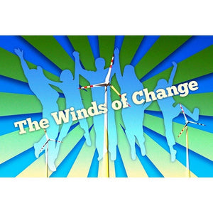 "The Winds of Change by E. Michelle Peterson 18"" by 12"" Print / Unframed Print Climate Victory"