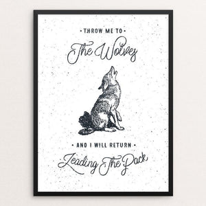 "THE WOLVES by Magdalena Mikos 12"" by 16"" Print / Framed Print Join the Pack"