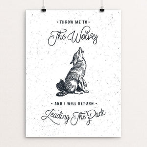 "THE WOLVES by Magdalena Mikos 12"" by 16"" Print / Unframed Print Join the Pack"