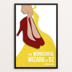 "The Wonderful Wizard of Oz by Abby Brown 12"" by 18"" Print / Framed Print Recovering the Classics"