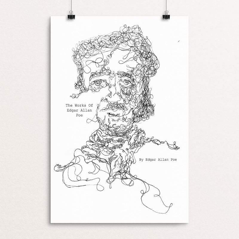 "The Works of Edgar Allan Poe by Isabella Scott 12"" by 18"" Print / Unframed Print Recovering the Classics"