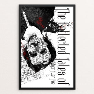 "The Works of Edgar Allan Poe by Joel Nieman 12"" by 18"" Print / Framed Print Recovering the Classics"