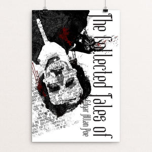 "The Works of Edgar Allan Poe by Joel Nieman 12"" by 18"" Print / Unframed Print Recovering the Classics"