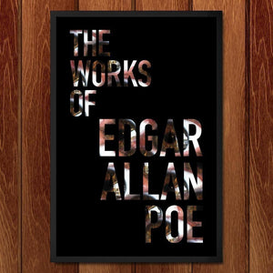 "The Works of Edgar Allan Poe by Nichole Diaz 12"" by 18"" Print / Framed Print Recovering the Classics"