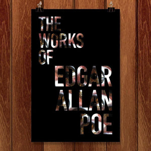 "The Works of Edgar Allan Poe by Nichole Diaz 12"" by 18"" Print / Unframed Print Recovering the Classics"
