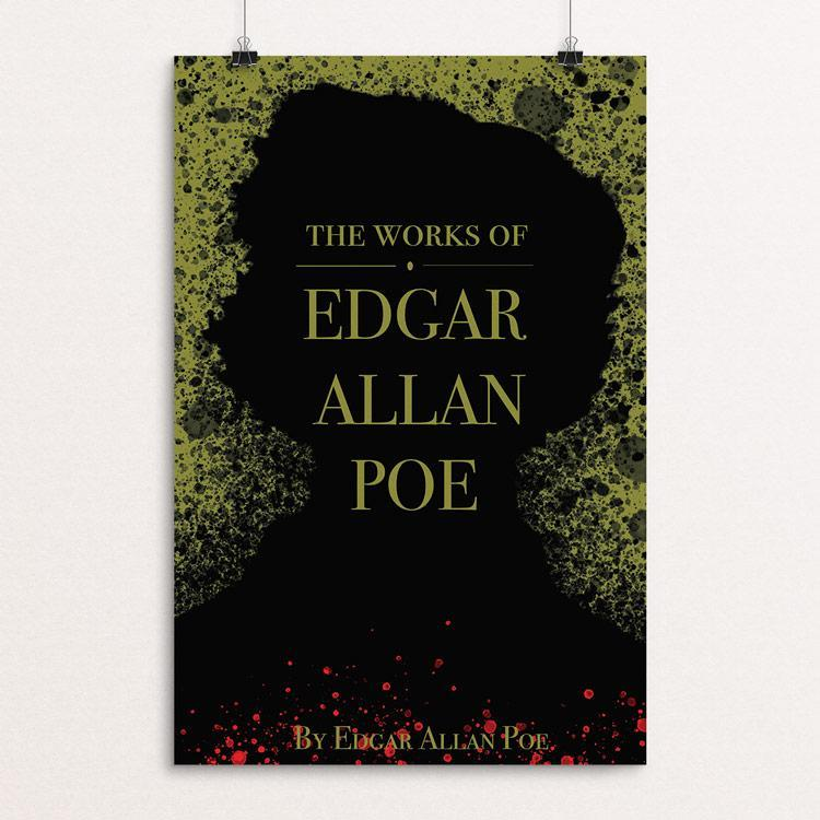 "The Works of Edgar Allan Poe by Portia Birdine 12"" by 18"" Print / Unframed Print Recovering the Classics"