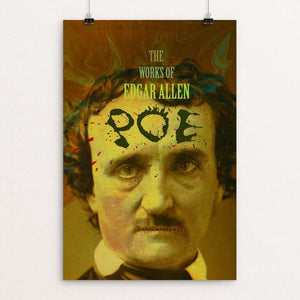 "The Works of Edgar Allan Poe by Vivian Chang 12"" by 18"" Print / Unframed Print Recovering the Classics"