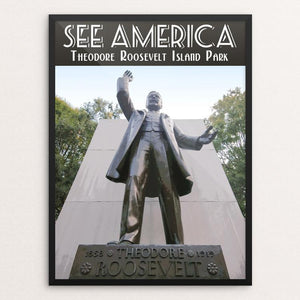 "Theodore Roosevelt Island Park by Zack Frank 12"" by 16"" Print / Framed Print See America"