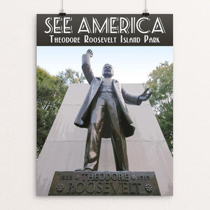 "Theodore Roosevelt Island Park by Zack Frank 12"" by 16"" Print / Unframed Print See America"
