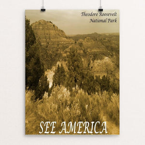 "Theodore Roosevelt National Park by Bryan Bromstrup 12"" by 16"" Print / Unframed Print See America"