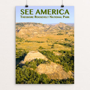 "Theodore Roosevelt National Park by Zack Frank 12"" by 16"" Print / Unframed Print See America"