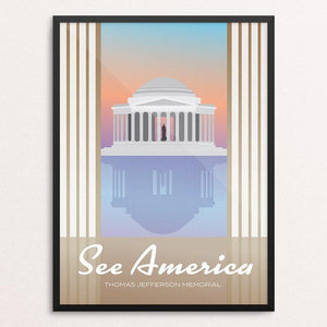 "Thomas Jefferson Memorial by Dominic Heidt 12"" by 16"" Print / Framed Print See America"