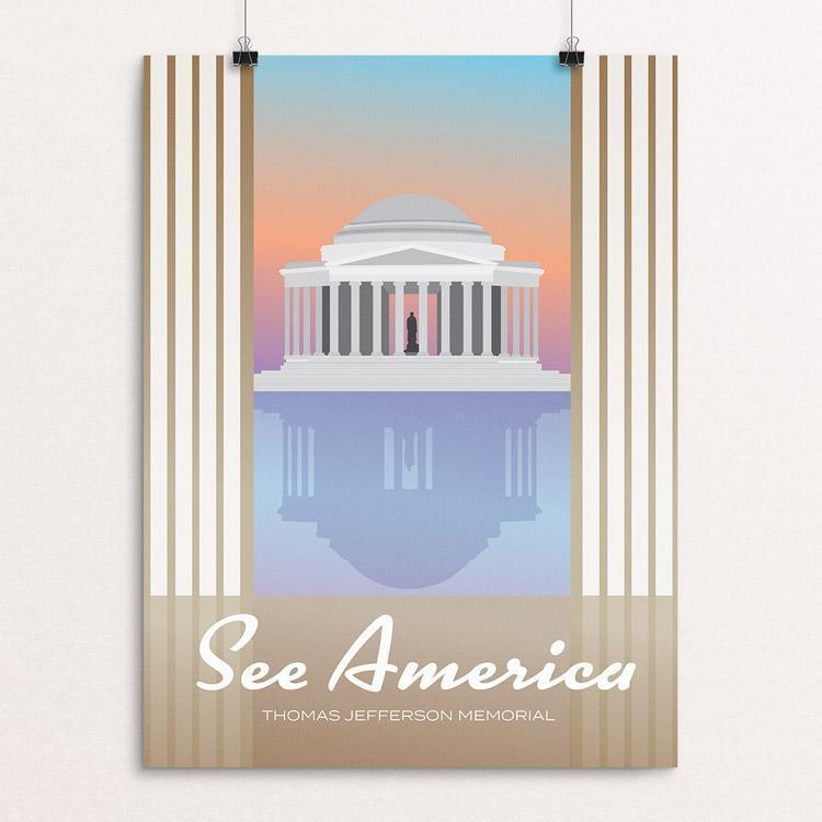 "Thomas Jefferson Memorial by Dominic Heidt 12"" by 16"" Print / Unframed Print See America"