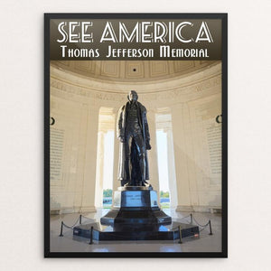 "Thomas Jefferson Memorial by Zachary Frank 12"" by 16"" Print / Framed Print See America"