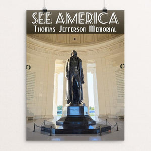 "Thomas Jefferson Memorial by Zachary Frank 12"" by 16"" Print / Unframed Print See America"
