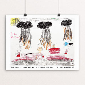 "Three Bombs by David Gross 12"" by 16"" Print / Unframed Print We Were Strangers Too"