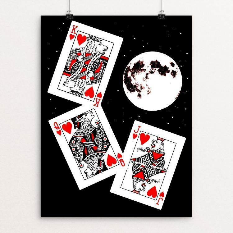 "Three Wolf Flush by Candy Medusa 18"" by 24"" Print / Unframed Print Join the Pack"