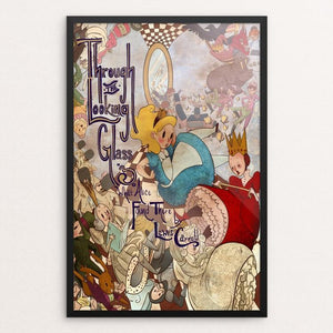 "Through the Looking-Glass by Amanda Todd 12"" by 18"" Print / Framed Print Recovering the Classics"
