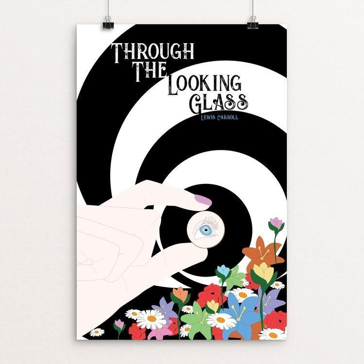 "Through the Looking-Glass by Darby Holt 12"" by 18"" Print / Unframed Print Recovering the Classics"