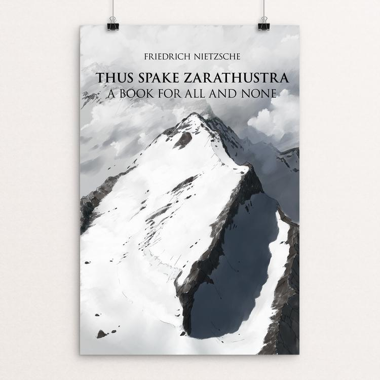 "Thus Spake Zarathustra by Christian Schlaeffer 12"" by 18"" Print / Unframed Print Recovering the Classics"