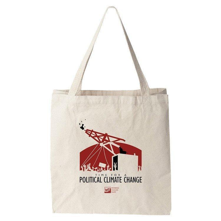 Time for A Political Change Tote Bag by Design by Goats Tote Bag Working Families P(ART)Y