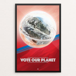 "Time to Change by David De Angelis 12"" by 18"" Print / Framed Print Vote Our Planet"